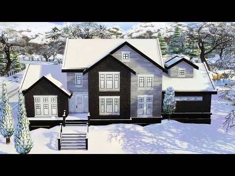 The Sims 4 - Winter Family Home | Speed Build | Winter Family House Building thumbnail