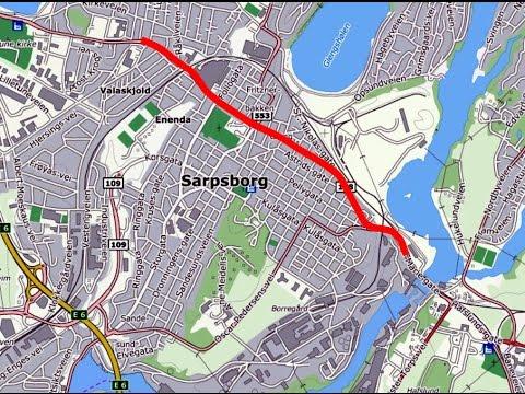 SARPSBORG 1977  E6 gjennom byen