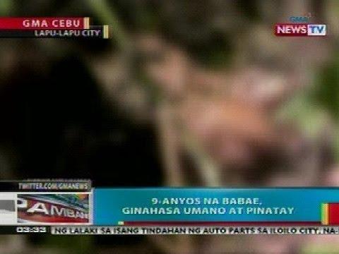 BP: 9-anyos na babae sa Lapu-lapu City, Cebu, ginahasa umano at pinatay