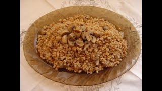 Армянский плов с грибами.  Постное блюдо. Hacharov plav