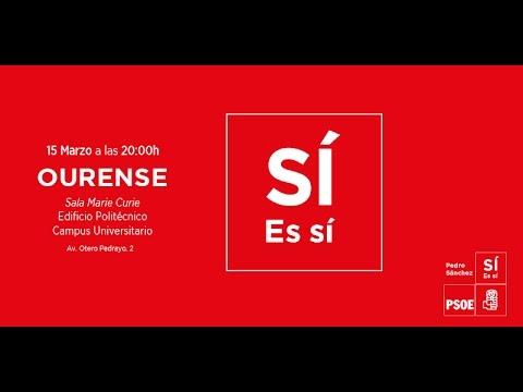 Ourense: Encuentro con milintates del PSOE   Pedro Sánchez