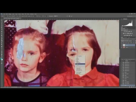Реставрация фотографии, ретуш в Photoshop CC