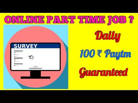 Now Earn Daily 100 Rs paytm ||online survey jobs||online earning app||onl| by earn money tech
