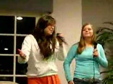 KK and Megan karaoke