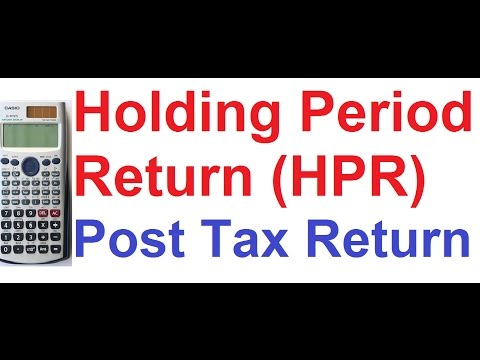 holding-period-return-(hpr)-and-post-tax-return-(ptr)-of-investment-on-casio-fx-991es-calculator