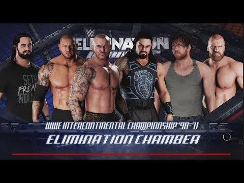WWE 2K18-Orton vs HHH vs Batista vs Reigns vs Rollins vs Ambrose-IC Championship Match