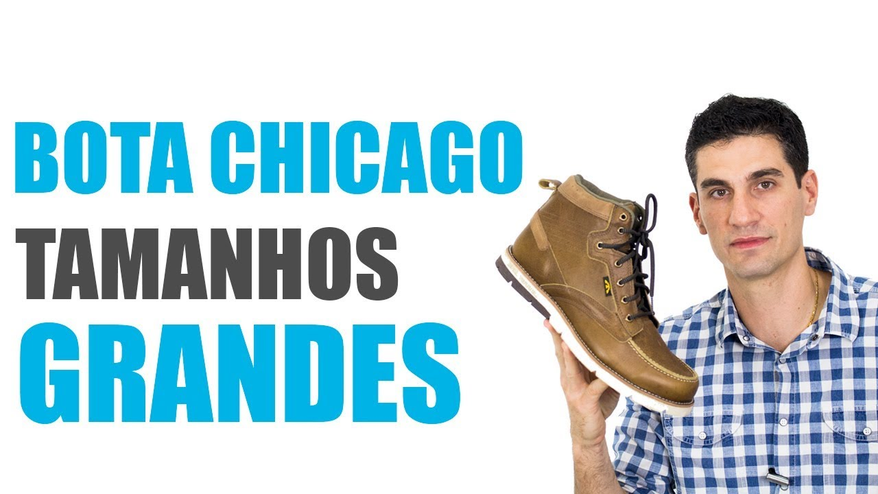 c2d7b0ff82 Bota Bull Terrier Chicago - Tamanhos Grandes - YouTube
