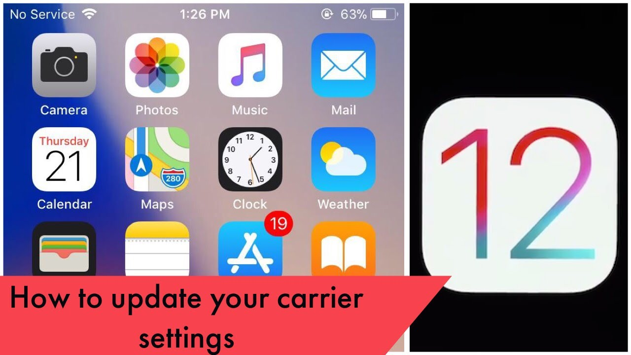 How To Update Your Carrier Settings On Ios Iphone Ipad V 2 Youtube