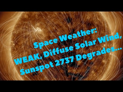 Space Weather: WEAK, Diffuse Solar Wind, Sunspot 2737 Degrades...