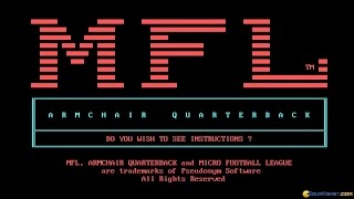 Armchair Quarterback gameplay (PC Game, 1985)