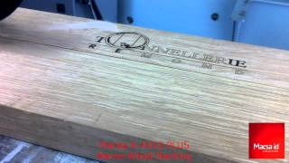 10 Watts CO2 Laser | Macsa Laser marking on Wood Barrel Engraving