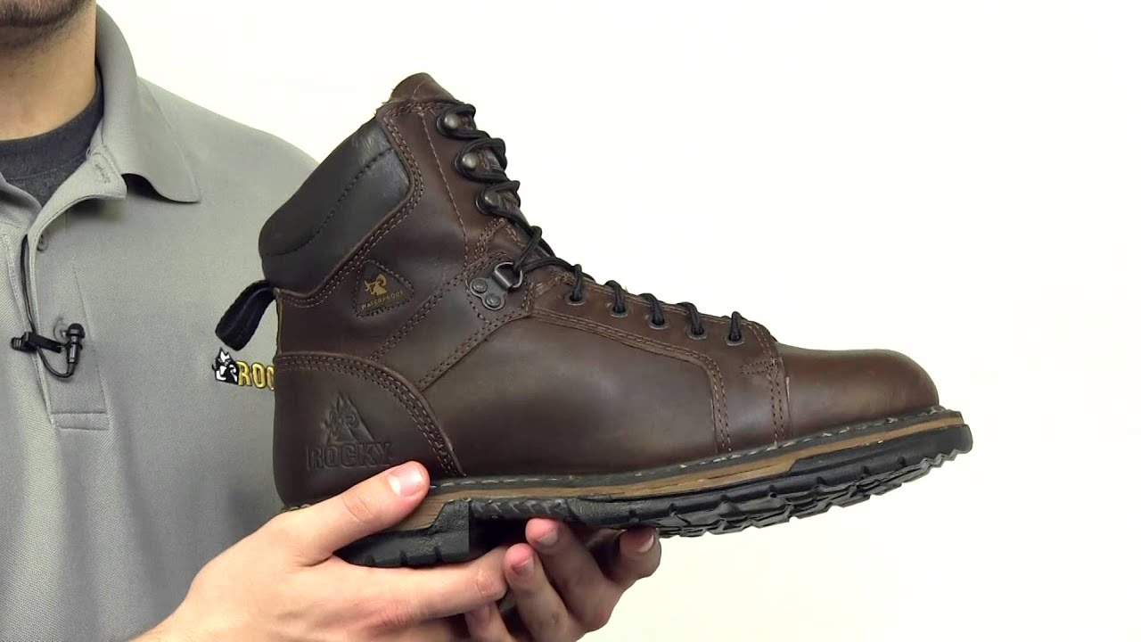 84b82429a8b Rocky IronClad Waterproof Lace To Toe Work Boots Style# - 5703