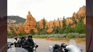 Route 66  West  with Harley Davidson motorcycles, summer  2012 quality HD
