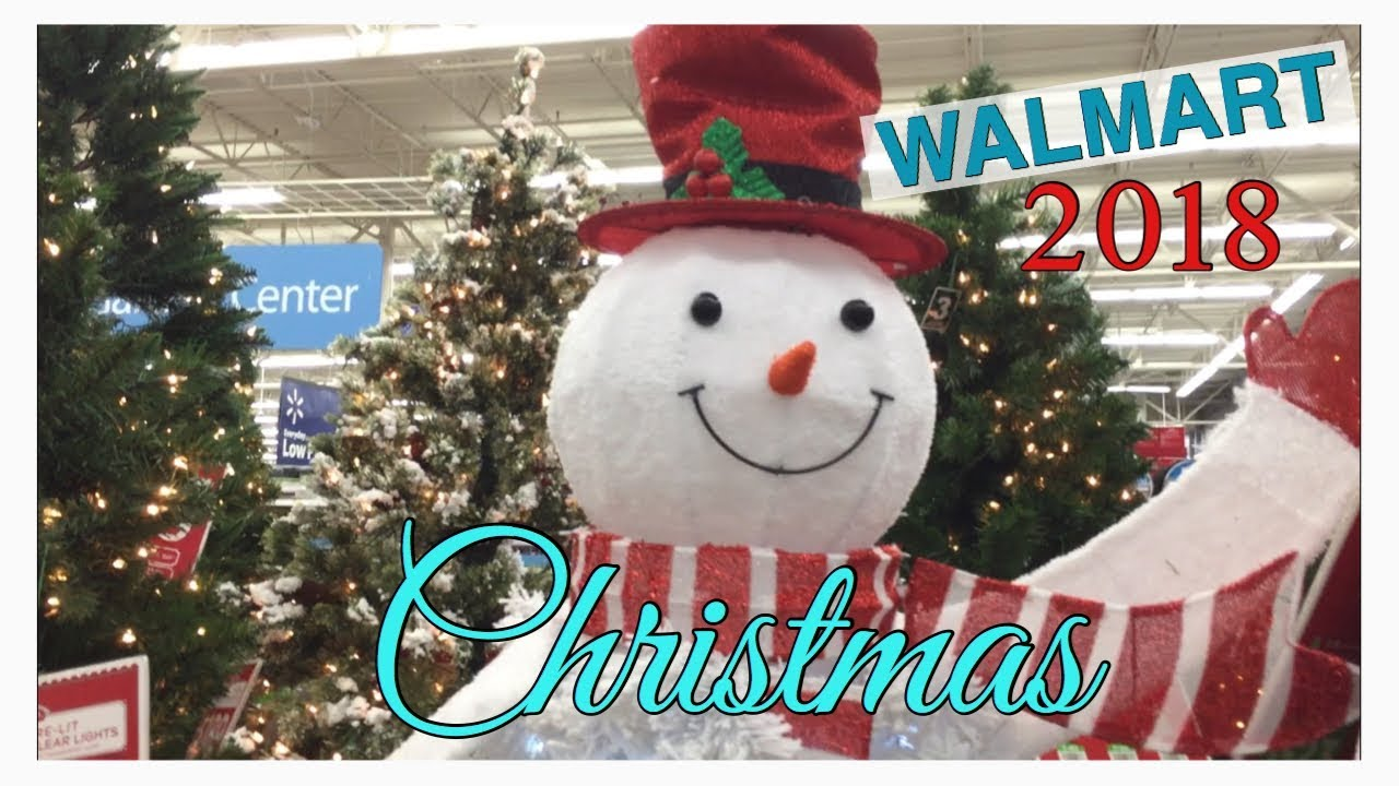 Walmart Shop With Me First Look At Christmas Decor 2018