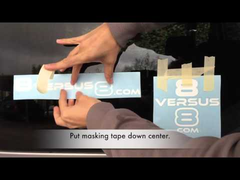 How To Apply A Car Decal - Detailed Steps - Dry Method - Application To Removal