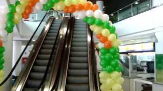 Decoração com balões - Arco C.C.Atrium.MPG - 1000 Ideias