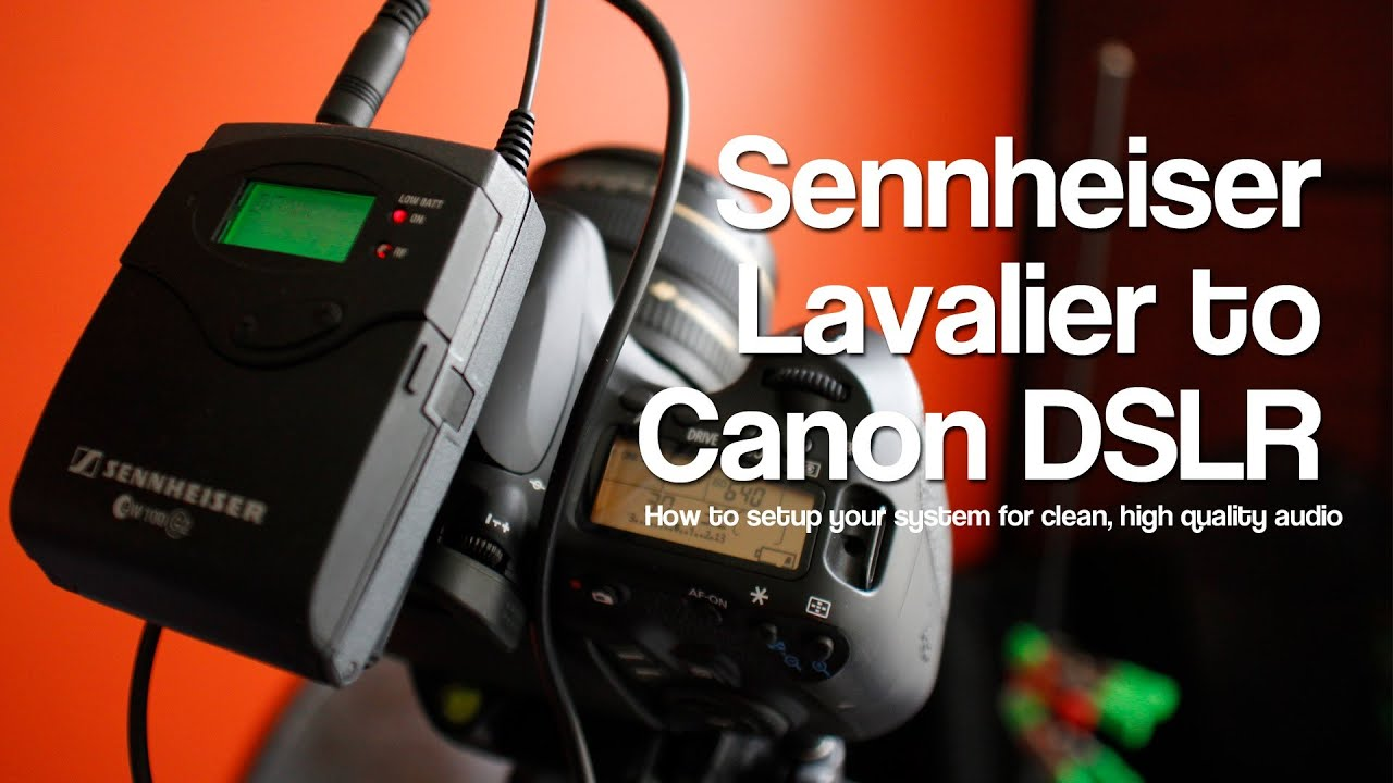 Sennheiser G2 G3 Settings For Direct To Canon Dslr 60d