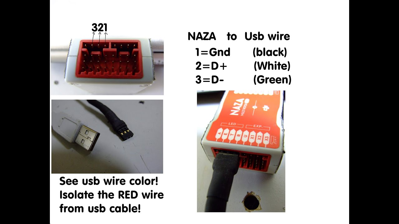 hight resolution of how to connect naza without v sen unit pmu or led unit to computer mix how naza v2 wiring diagram