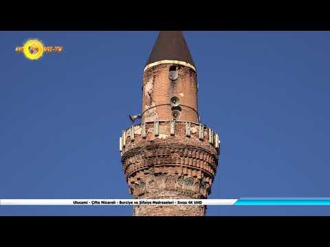 Ulucami - Çifte Minareli - Burciye ve Şifaiye Medreseleri - Sıvas 4K UHD