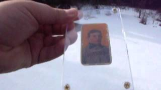 HONUS WAGNER T206 BASEBALL CARD, FOR SALE ON YOUTUBE OPEN TO OFFERS STARTING AT $1000000 NO RESERVE