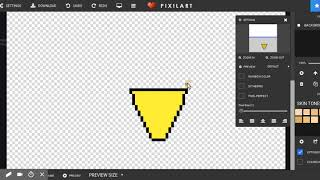 Tutorial/ How to draw a pizza Pixel Art
