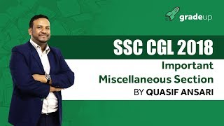 Important Miscellaneous Section for SSC CGL 2018 by Quasif Ansari Sir - Live Session