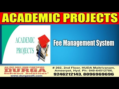 Java academic Projects||online projects||Fee Management System