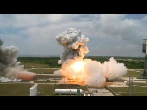 Lift off of Delta rocket - satellite cargo