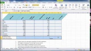 Excel Genel Tekrar Uygulaması