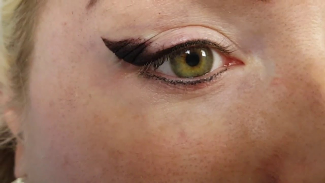 Extreme Latino Winged Shaded Eyeliner Cosmetic Tattoo by El Truchan @ Perfect Definition