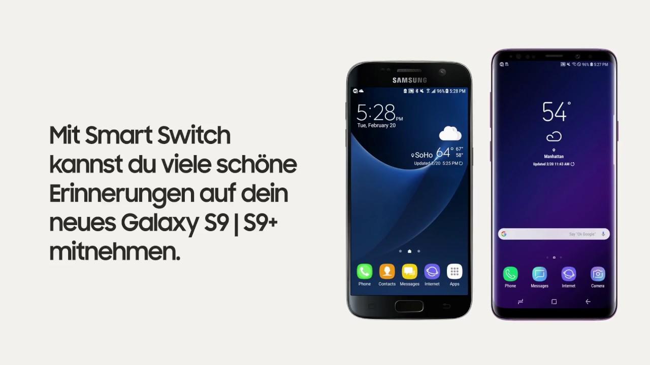 samsung galaxy s9 s9 daten bertragung von deinem alten samsung smartphone youtube. Black Bedroom Furniture Sets. Home Design Ideas