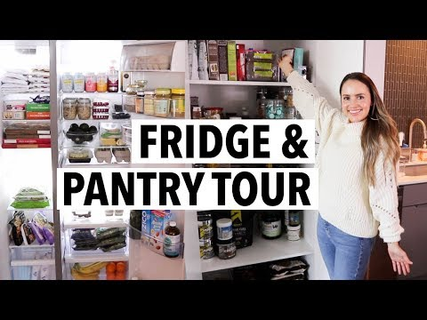 HEALTHY FRIDGE & PANTRY TOUR! What I eat in a week/ How I organize my fridge