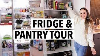 HEALTHY FRIDGE & PANTRY TOUR! What I eat in a week/ How I organize my fridge