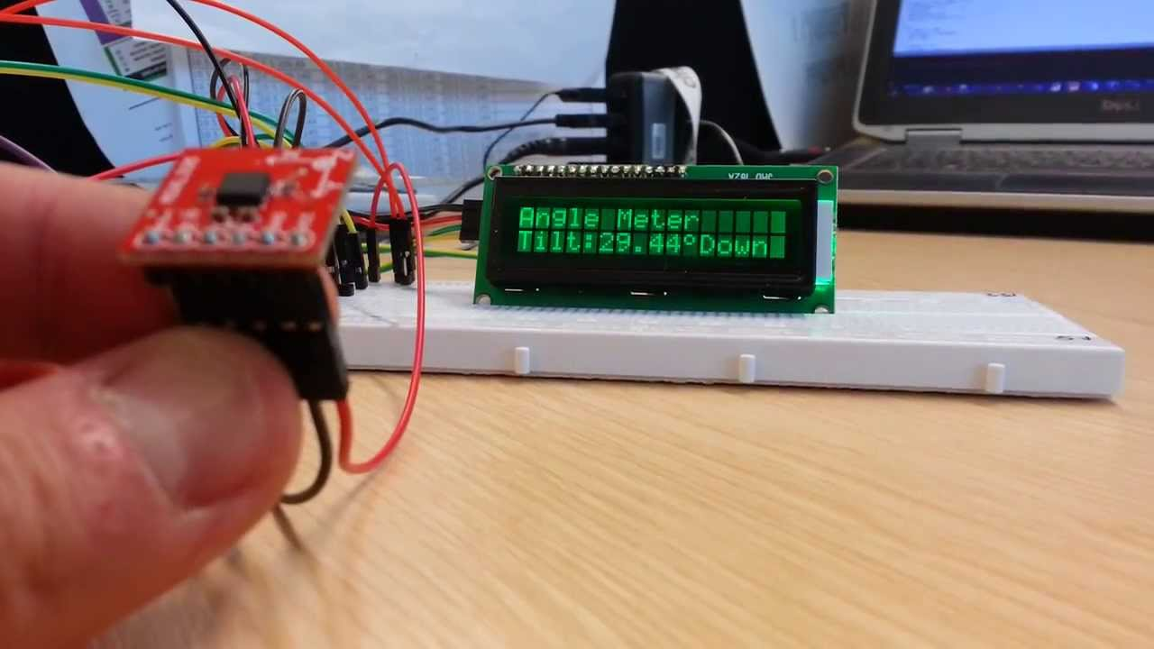 Analogue accelerometer and arduino angle meter youtube