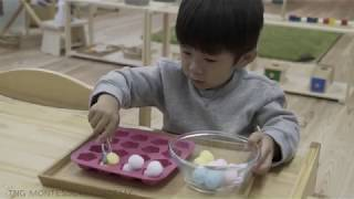 Daycare (保育園) のような一日自由遊びではなく、テーマ付きの学習、子...