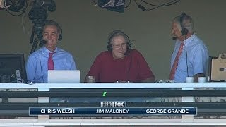 CIN@SF: Maloney joins the broadcast booth for Reds