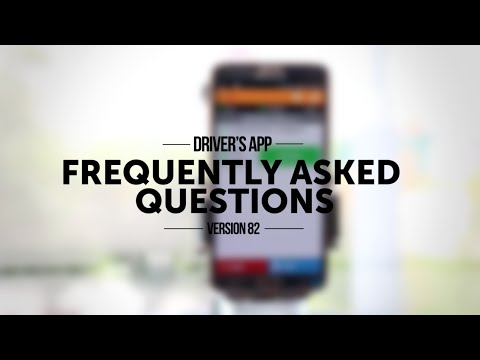 FOR DRIVERS: Frequently Asked Questions