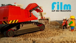 Playmobil construction site | many construction site vehicles | film diorama