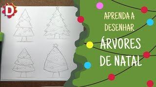 Árvore de Natal - Como desenhar vários modelos (Christmas)