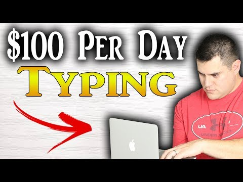 Make $100 Per Day Typing For Complete Beginners (SO EASY)