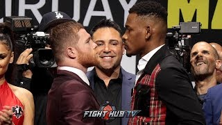 DANIEL JACOBS TOWERS OVER CANELO IN FINAL LA FACE OFF BEFORE CAMP STARTS FOR BOTH FIGHTERS