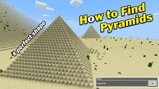 how to find pyramids minecraft pe pocket edition the perfect cross map