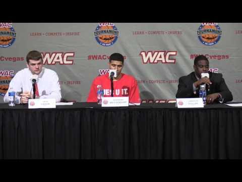 2016 WAC Basketball Tournament Postgame Presser - M's Game 5 - SU