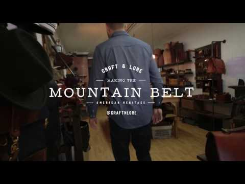 The Mountain Belt - Toughest Leather Belt On Kickstarter