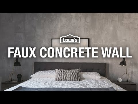 How to Make a Faux Concrete Wall