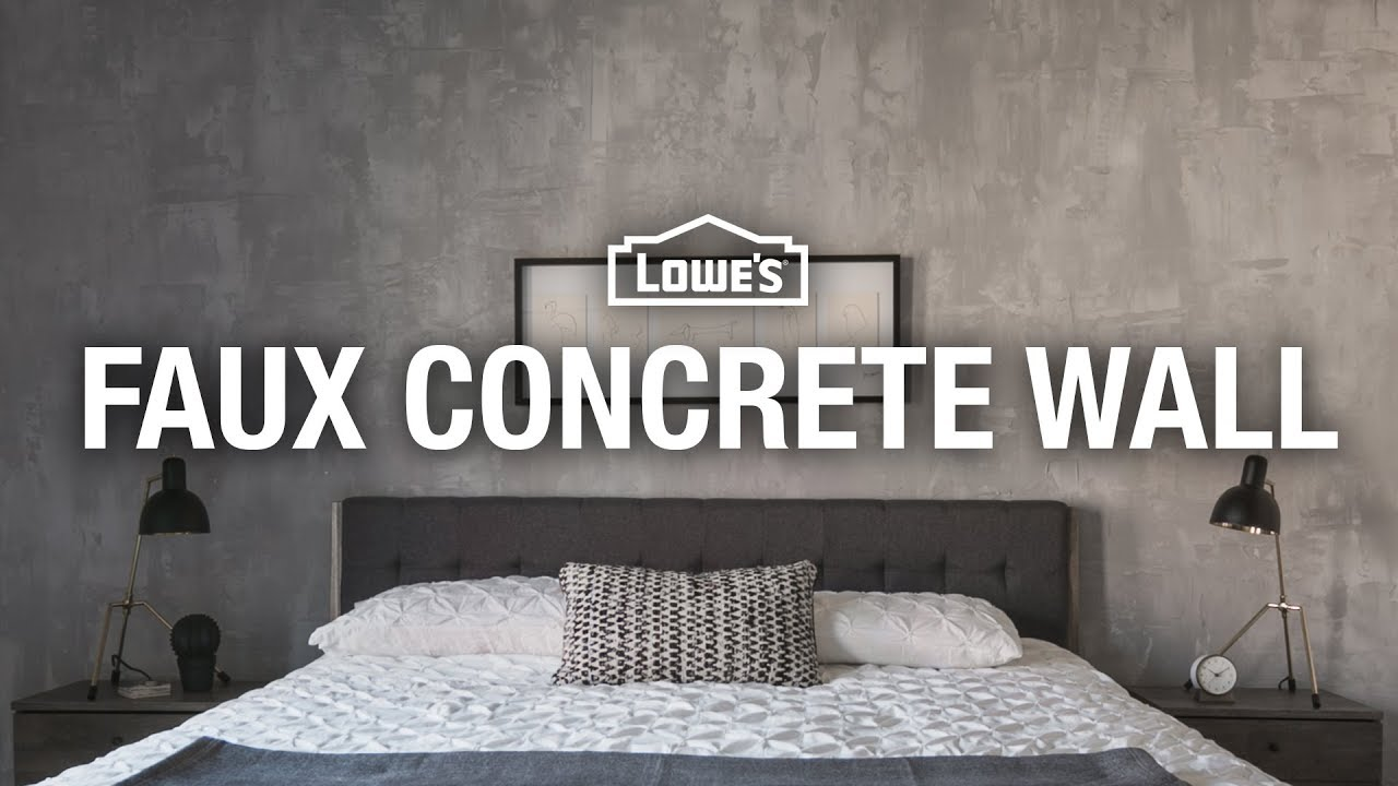 How To Make A Faux Concrete Wall Youtube