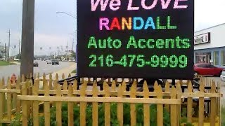 led sign service, repairs, portable trailer, digital sign software experts, Cleveland ohio