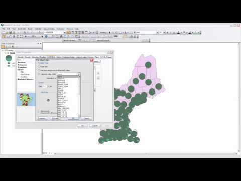 40. Chart Mapping with ArcMap (pie charts)