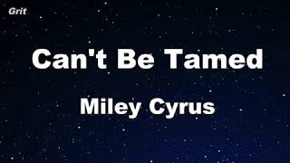 Can't Be Tamed - Miley Cyrus Karaoke 【No Guide Melody】 Instrumental