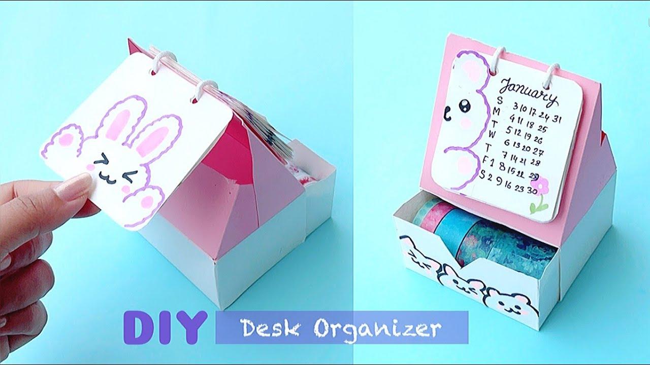 DIY Room Decor & Organization - Easy & Cute Desk Organizer From Paper / Paper Craft